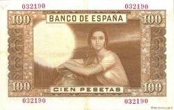 100 Pesetas ESPAGNE  1953 P.145a SUP