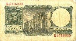 5 Pesetas ESPAGNE  1954 P.146a TB