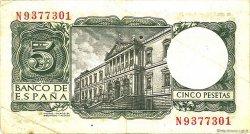 5 Pesetas ESPAGNE  1954 P.146a TTB