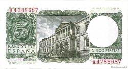 5 Pesetas ESPAGNE  1954 P.146a SPL