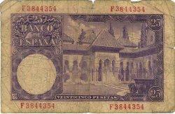 25 Pesetas ESPAGNE  1954 P.147a B