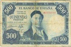 500 Pesetas ESPAGNE  1954 P.148a B