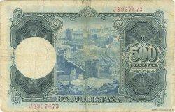 500 Pesetas ESPAGNE  1954 P.148a TB