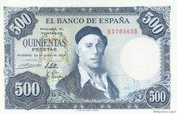 500 Pesetas ESPAGNE  1954 P.148a SUP