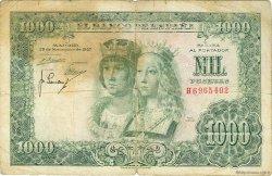 1000 Pesetas ESPAGNE  1957 P.149a B