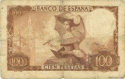 100 Pesetas ESPAGNE  1965 P.150 B