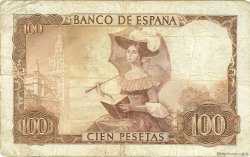 100 Pesetas ESPAGNE  1965 P.150 TB