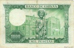 1000 Pesetas ESPAGNE  1965 P.151 TB
