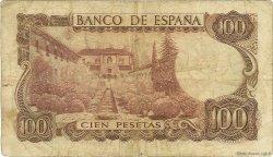 100 Pesetas ESPAGNE  1970 P.152a B