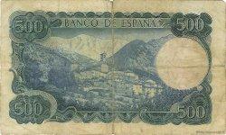 500 Pesetas ESPAGNE  1971 P.153a B