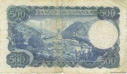 500 Pesetas ESPAGNE  1971 P.153a TB