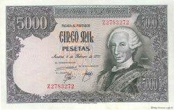 5000 Pesetas ESPAGNE  1976 P.155 SUP