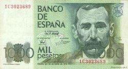 1000 Pesetas ESPAGNE  1979 P.158 TTB