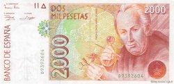 2000 Pesetas ESPAGNE  1992 P.162 NEUF