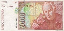 2000 Pesetas ESPAGNE  1992 P.164 TTB+