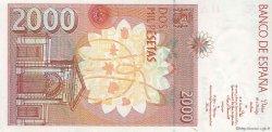 2000 Pesetas ESPAGNE  1992 P.164 SUP