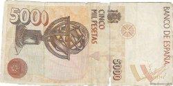 5000 Pesetas ESPAGNE  1992 P.165 TB+