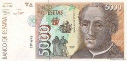 5000 Pesetas ESPAGNE  1992 P.165 pr.NEUF