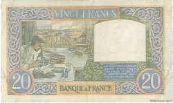 20 Francs SCIENCE ET TRAVAIL FRANCE  1941 F.12.20 TTB