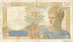50 Francs CÉRÈS FRANCE  1936 F.17.29 TB