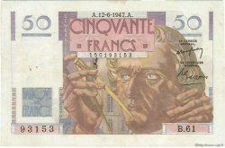 50 Francs LE VERRIER FRANCE  1947 F.20.08 TTB