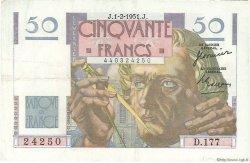 50 Francs LE VERRIER FRANCE  1951 F.20.17