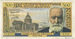 500 Francs VICTOR HUGO FRANCE  1958 F.35.11 pr.TTB