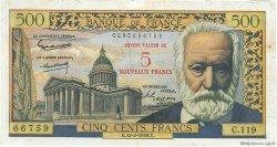 5 NF sur 500 Francs Victor HUGO FRANCE  1959 F.52.02 TTB
