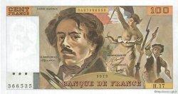 100 Francs DELACROIX modifié FRANCE  1979 F.69.02c SUP+