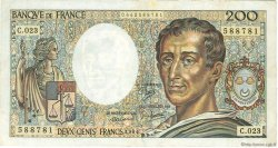 200 Francs MONTESQUIEU FRANCE  1984 F.70.04 pr.TTB