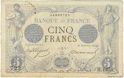 5 Francs NOIR FRANCE  1873 F.01.15 TB+