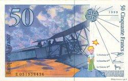 50 Francs SAINT-EXUPÉRY modifié FRANCE  1999 F.73.05 SPL