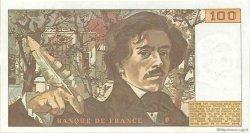 100 Francs DELACROIX modifié FRANCE  1978 F.69.01d pr.SUP