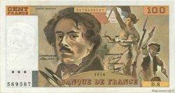 100 Francs DELACROIX modifié FRANCE  1978 F.69.01e TTB
