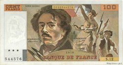 100 Francs DELACROIX modifié FRANCE  1979 F.69.02c TTB à SUP