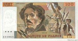 100 Francs DELACROIX modifié FRANCE  1979 F.69.02c pr.SPL