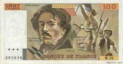 100 Francs DELACROIX modifié FRANCE  1979 F.69.02c TTB+