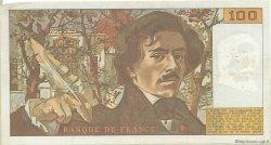 100 Francs DELACROIX modifié FRANCE  1984 F.69.08a TB+