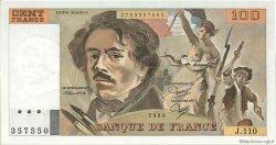 100 Francs DELACROIX modifié FRANCE  1986 F.69.10 NEUF