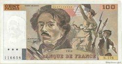 100 Francs DELACROIX imprimé en continu FRANCE  1990 F.69bis.02c pr.SUP
