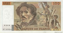 100 Francs DELACROIX 442-1 & 442-2 FRANCE  1995 F.69ter.02b SUP+