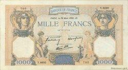 1000 Francs CÉRÈS ET MERCURE type modifié FRANCE  1939 F.38.35 TTB+
