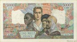 5000 Francs EMPIRE FRANÇAIS FRANCE  1945 F.47.28 TTB+