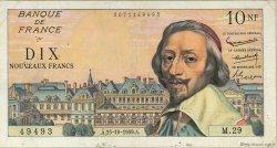10 Nouveaux Francs RICHELIEU FRANCE  1959 F.57.03 TB à TTB