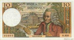 10 Francs VOLTAIRE FRANCE  1973 F.62.65 TTB+