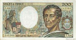 200 Francs MONTESQUIEU FRANCE  1984 F.70.04 TTB