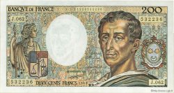 200 Francs MONTESQUIEU FRANCE  1988 F.70.08 SUP