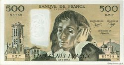 500 Francs PASCAL FRANCE  1985 F.71.32 TTB à SUP