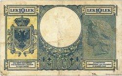 10 Lek ALBANIE  1940 P.11 TTB