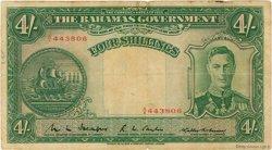 4 Shillings BAHAMAS  1936 P.09b TB+